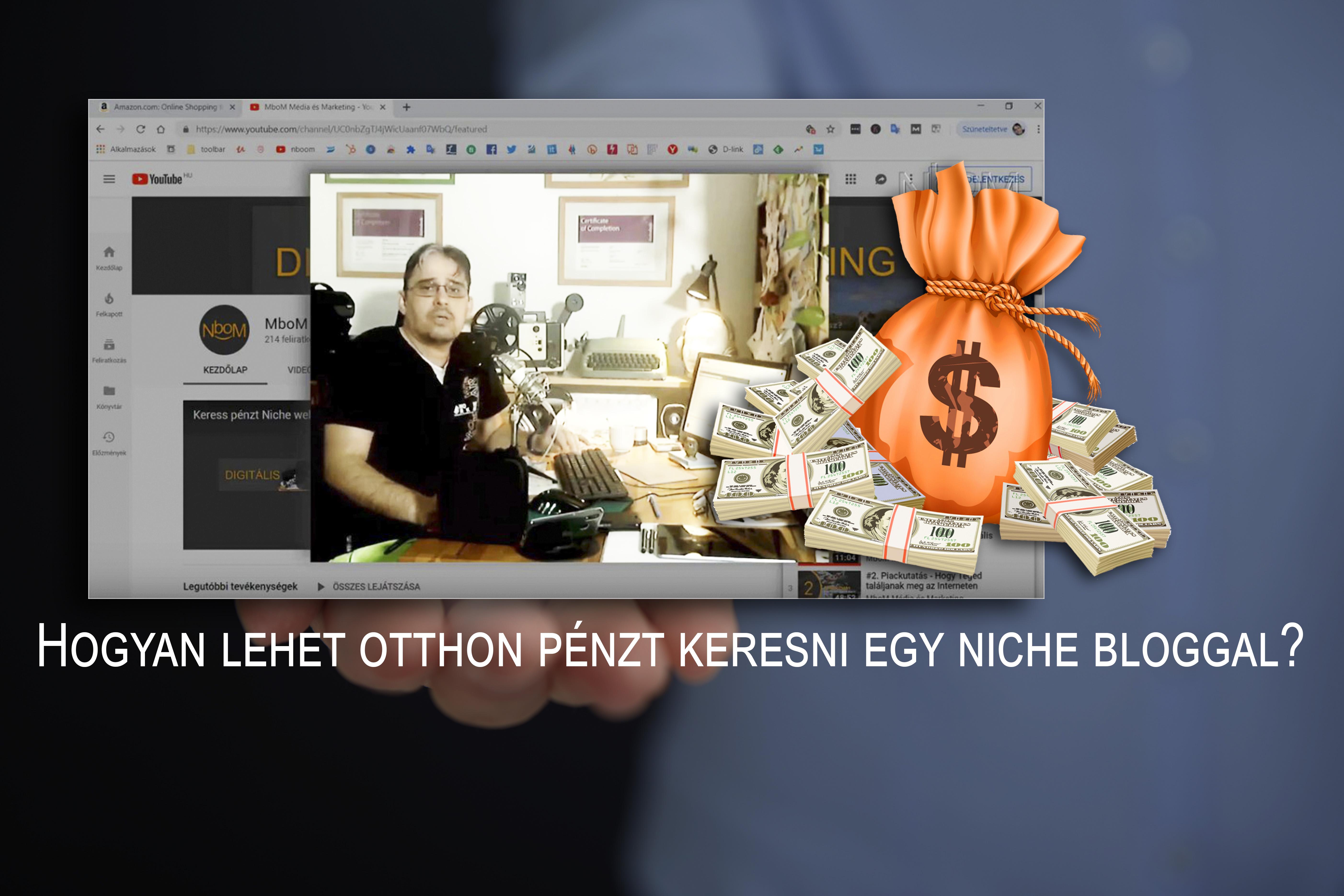 weboldal pénzt keresni videó)