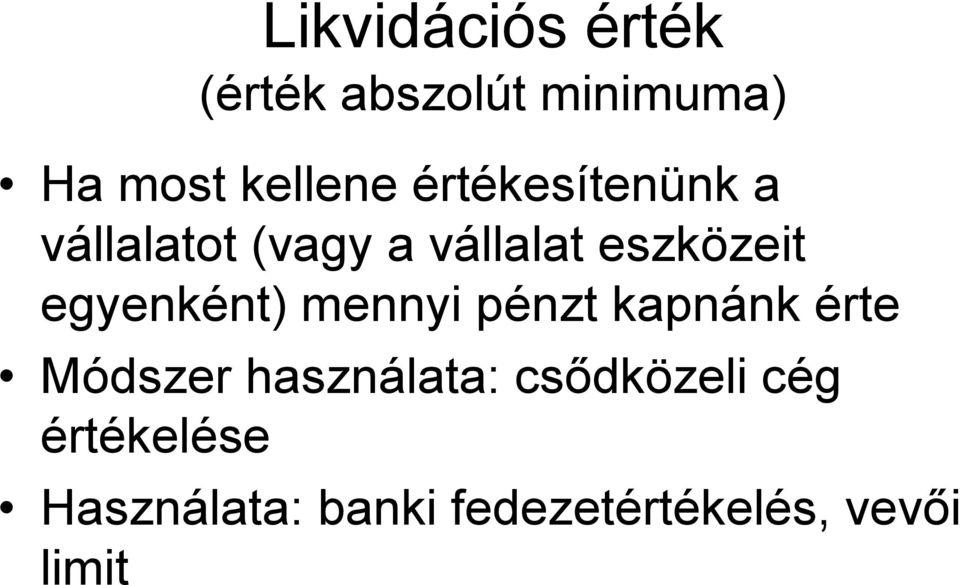opciók használata a kockázatos vállalati adósság értékelésében)