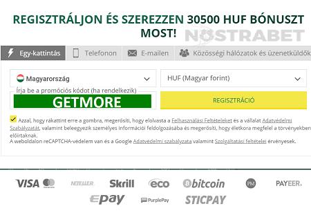 opciók bónusszal a regisztrációnál)