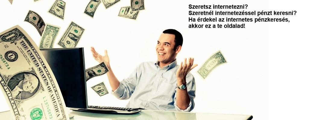 pénzt kereshet az interneten
