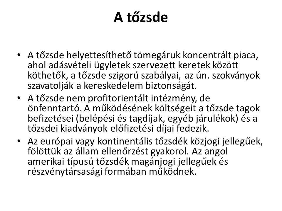 pénzügyi ügyletek kereskedelme)